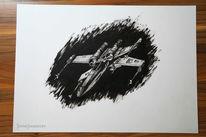 Starwars, Flügel, Pigmente, Zeichnungen