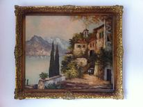 Ölmalerei, Wasser, Landschaft, Malerei