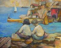 Gefühl, Menschen, Sommer, Malerei