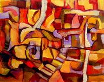 Experimentell, Linie, Farben, Fläche
