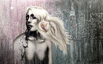 Schwarz, Acrylmalerei, Surreal, Lsd
