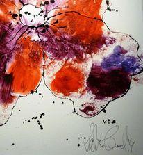 Weiß, Tinte, Abstrakt, Blumen