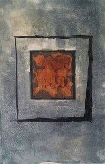 Eisen, Mischtechnik, Malerei