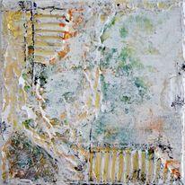 Abstrakt, Grau, Malerei, Marmormehl