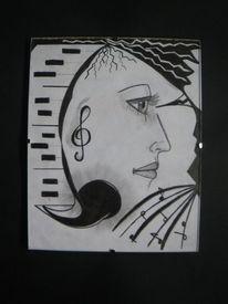 Gesicht, Abstrakt, Kontrast, Schwarz weiß