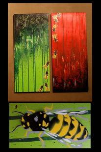 Graffiti, Aerosol, Abstrakt, Biene