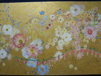 Bunt, Gold, Blumen, Blüte