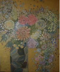 Gold, Blumen, Blüte, Bunt