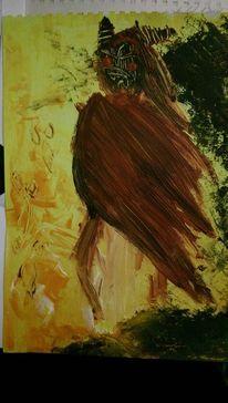 Schwarz, Abstrakt, Figural, Acrylmalerei