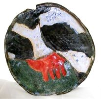 Friesland, Wandteller, Kuh, Keramik