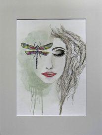 Libelle, Frau, Geschenk, Geburtstag