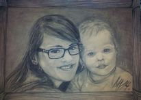 Kind, Portrait, Familie, Zeichnung