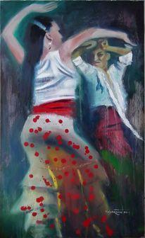 Bühne, Expressionismus, Flamenco, Tanz