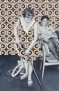 Frau, Ölmalerei, Mann, Malerei