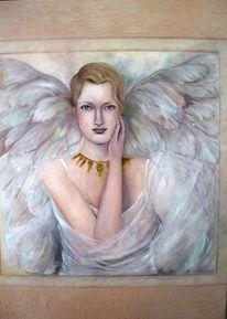 Sanft, Ölmalerei, Engel, Malerei