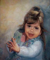 Portrait, Gesicht, Hände, Kind