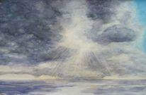 Wolken, Licht, Meer, Aquarell