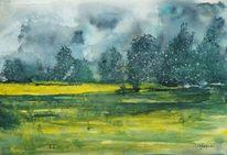 Gelb, Sturm, Wolken, Sommer