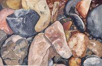 Steinbruch, Stein, Aquarellmalerei, Aquarell