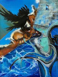 Fantasie, Umwelt, Blau, Umbruch