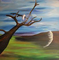 Baum, Traum, Surreal, Feder