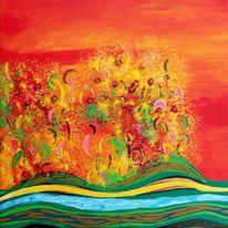 Farben, Pracht, Herbst, Abendrot