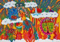 Wolken, Trauer, Traum, Malerei
