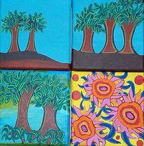Baum, Natur, Leben, Malerei