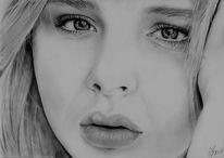Realismus, Bleistiftzeichnung, Faber, Portrait