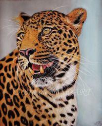 Raubtier, Pastellmalerei, Tiere, Tierzeichnung