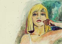Tanz, Malerei, Aquarellmalerei, Mädchen