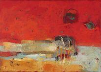 Acrylmalerei, Malerei, Fliessbach, Rot