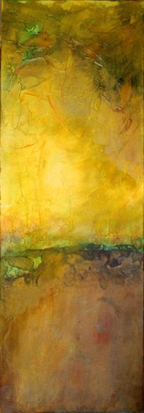 Gelb, Rost, Acrylmalerei, Landschaft