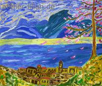 Italien, Landschaft, Berge, Dorf