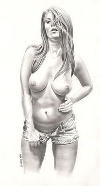 Grafit, Zeichnung, Portrait, Entspannen