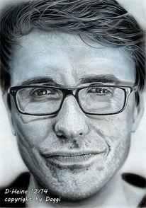 Airbrush, Bleistiftzeichnung, Portrait, Zeichnung