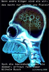 Röntgen, Zitat wilhelm busch, Homers gehirn, Illustrationen