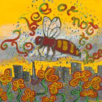 Großstadt, Verschmutzung, 2009, Biene