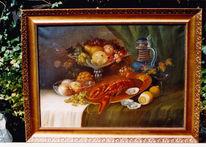 Ölmalerei, Dunkel, Stillleben, Fülle