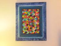 Blau, Grün, Acrylmalerei, Malerei