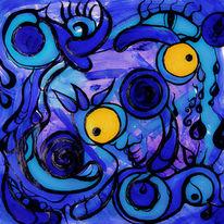 Acrylmalerei, Gekritzel, Mischtechnik, Malerei