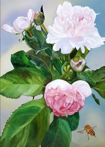 Biene, Stillleben, Ölmalerei, Kasyanov