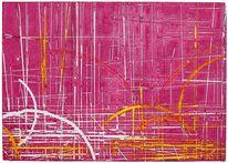 Pink farbexplosion einzigartig, Malerei, Pink