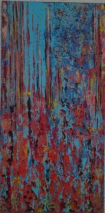 Rot, Struktur, Acrylmalerei, Bunt