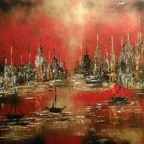 Abstrakt, Wasser, Rot, Farben