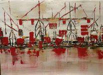 Hafen, Abstrakt, Malerei,