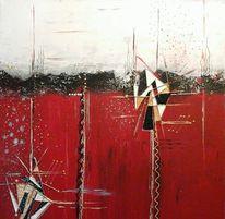 Mischtechnik, Abstrakte acryl bild, Abstrakt, Malerei