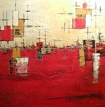 Abstrakte acryl bild, Abstrakt, Kraft leben, Malerei