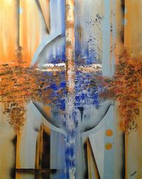 Abstrakt, Erde, Acrylmalerei, Fantasie