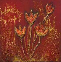 Rot, Strukturieren, Tulpen, Dekoration
